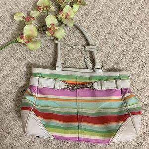Coach Rainbow Striped hand bag